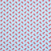 Lobster Polka Dot Apparel Fabric
