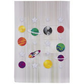 Planets & Holographic Stars Hanging Decorations