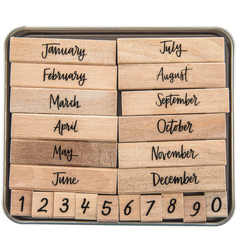 Script Months Of The Year Rubber Stamps