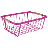Pink Wire Mesh Metal Basket
