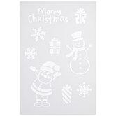 Christmas Icons Stencil