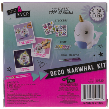 Deco Narwhal Coin Bank Kit