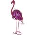 Pink Swirl Metal Flamingo