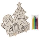 Santa & Tree Scenes Wood Craft Kit