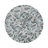 Green Watercolor Leaves Paper Plates - Small