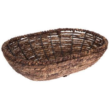 Dark Brown Oval Maize Basket