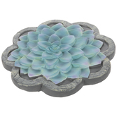 Blue Succulent Stepping Stone