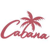 Pink Cabana Palm Wood Wall Decor