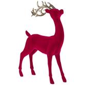 Pink Velvet Standing Reindeer