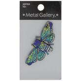 Rainbow Longwing Butterfly Rhinestone Brooch