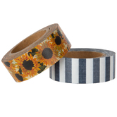 Sunflower & Striped Washi Tape