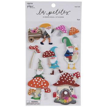Gnome & Mushroom 3D Stickers