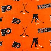 NHL Philadelphia Flyers Allover Fleece Fabric