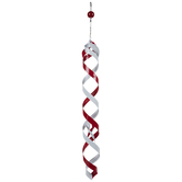 Red & White Metal Wind Spinner Mobile