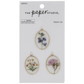 Painted Flower Charm Embellishments