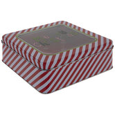 Merry Christmas Striped Tin Box