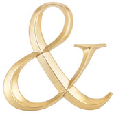 Gold Symbol Wall Decor - Ampersand