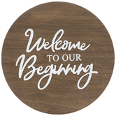 Our Beginning Wood Wall Decor