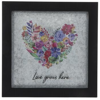 Love Grows Here Framed Decor