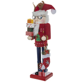 Wood Nutcracker With Christmas Sweater