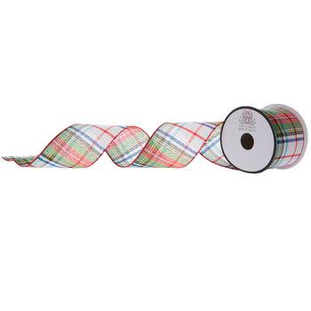 Plaid Wired Edge Ribbon