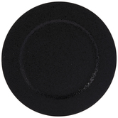Black Glitter Plate Charger