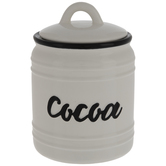 White & Black Cocoa Canister