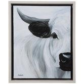 White Cow Canvas Wall Decor