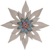Layered Flower Metal Wall Decor