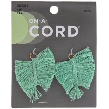 Green Tassel Leaf Pendants