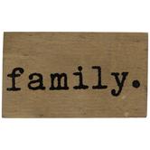 Family Wood Decor