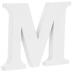 White Wood Letter M - 3