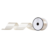 Ivory Double-Face Satin Ribbon - 2""