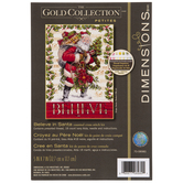 Believe In Santa Counted Cross Stitch Kit
