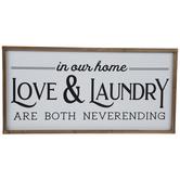 Love & Laundry Wood Wall Decor