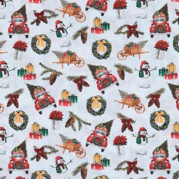 Christmas Icons Cotton Fabric