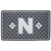 Gray Geometric Tiles Letter Doormat - N