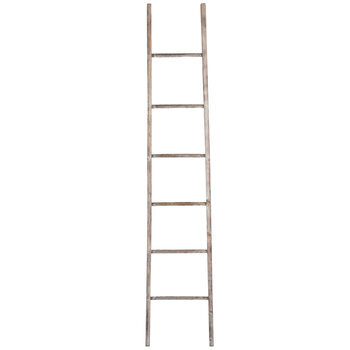 Bleached Decorative Wood Ladder