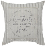 Give Thanks Striped Pillow