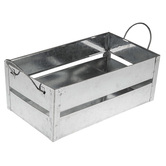 Galvanized Metal Rectangle Container - Large