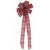 Red Plaid Christmas Bow