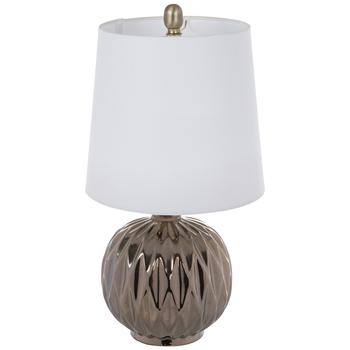 Metallic Geometric Glass Lamp