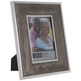"Gray & Silver Beveled Frame - 4"" x 6"""
