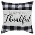 Always Be Thankful Buffalo Check Pillow Cover