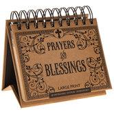 Prayers & Blessings Large Print Perpetual Day Calendar
