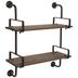 Industrial Planks Wood Wall Shelf