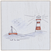 Out To Sea Sketch Wood Decor