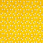 Yellow Bees Cotton Calico Fabric