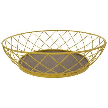 Yellow Round Metal Wire Basket