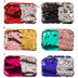 Two-Tone Sequin Zipper Purses